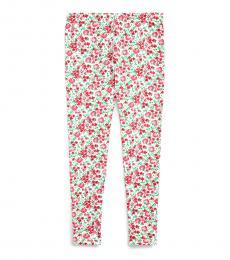Ralph Lauren Girls Pink Multi Floral Stretch Jersey Leggings