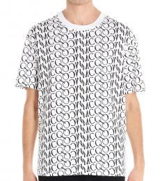 McQ Alexander McQueen White logo all over t-shirt