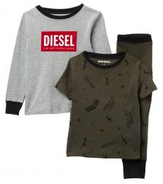 Diesel 3 Piece T-Shirts/Pants Set (Little Girls)