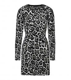 Leopard Leopard Print Sweater Dress