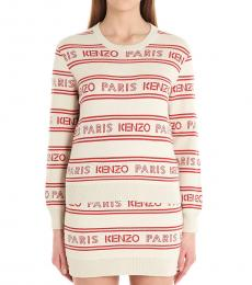 Kenzo Multi color All Over Logo Jacquard Sweater