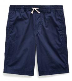 Boys Newport Navy Twill Drawstring Shorts