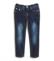 Little Boys Illusion Blue Geno Relaxed Slim Jeans