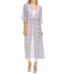 Pearl Ivory Floral Maxi Chiffon Top
