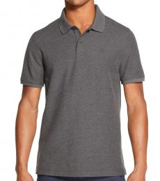 Grey Stackable Regular-Fit Polo