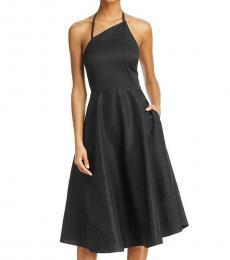 Betsey Johnson Black Asymmetrical Fit & Flare Party Dress