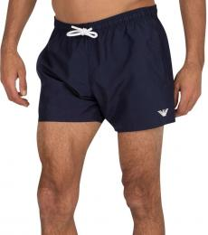 Emporio Armani Navy Blue Boxer Swim Shorts