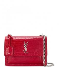Saint Laurent Red Sunset Medium Shoulder Bag