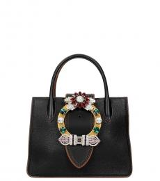 Miu Miu Black Buckle Small Satchel