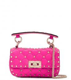 Valentino Garavani Fuchsia Rockstud Spike Mini Shoulder Bag