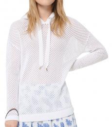 Michael Kors White Cotton-Mesh Hoodie
