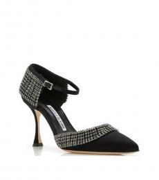 Manolo blahnik Black Albingia Crystals Heels