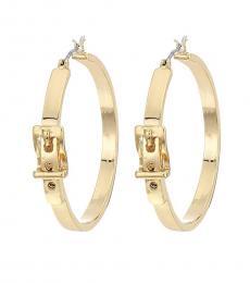 Ralph Lauren Gold Buckle Hoop Earrings