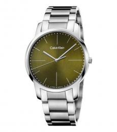 Calvin Klein Silver City Green Dial Watch