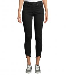 7 For All Mankind Black Gwenevere High-Waist Jeans