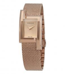 Versace Gold Rectangle Watch