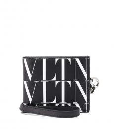 Valentino Garavani Black-White Logo Wallet