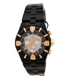 Roberto Cavalli Black Diamond Chronograph Watch