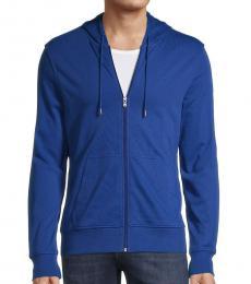 Michael Kors Royal Blue Full-Zip Cotton Hoodie
