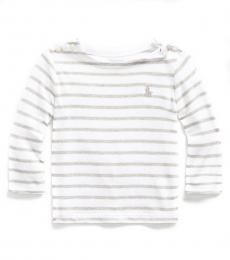 Ralph Lauren Baby Girls Andover Heather Multi Striped T-Shirt