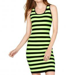 Michael Kors Black Striped Sheath Mini Dress