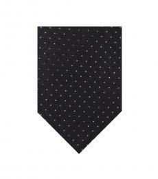 Calvin Klein Black Metallic Pindot Tie