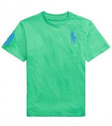 Ralph Lauren Boys Golf Green Big Pony T-shirt