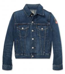Ralph Lauren Boys Gordon Wash Denim Cotton Trucker Jacket
