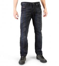 Diesel Navy Blue Regular Fit Jeans