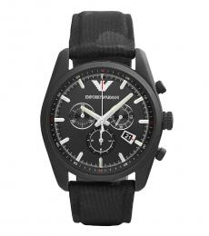 Emporio Armani Black Sport Chronograph Watch