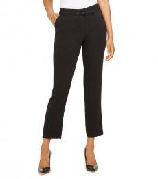Black Belted Ankle Dress Pants