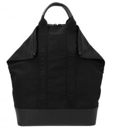 Alexander McQueen Black Solid Large Backpack