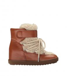 Coach Saddle Fur Monroe Boots