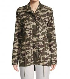 True Religion Olive Camouflage Cotton Jacket
