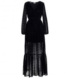 Black Damask Long Dress
