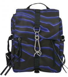 Just Cavalli Black Printed Large Backpack