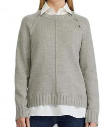 Ralph Lauren Grey Heather Layered Sweater