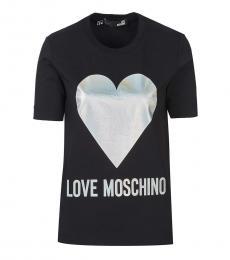 Love Moschino Black Logo T-Shirt