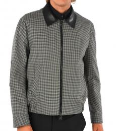 Neil Barrett Black Grey Checked Jacket