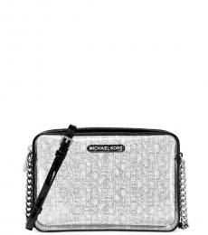 Michael Kors Black Jet Set EW Clear Medium Crossbody