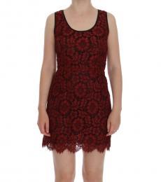 Red Floral Mini Dress