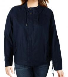 Ralph Lauren Indigo Lace Up Hooded Jacket