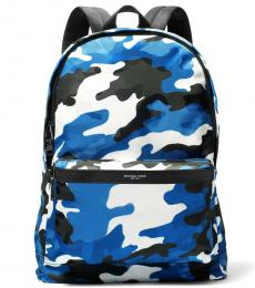 Michael Kors Cobalt/White Camo Kent Large Backpack