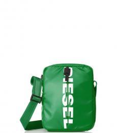 Diesel Light Green F-Bold Medium Crossbody Bag