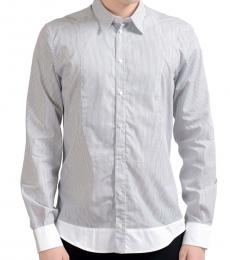 Dolce & Gabbana Blue White Striped Dress Shirt