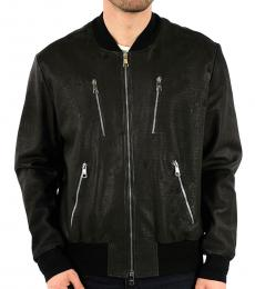 Neil Barrett Black Man Leather Jacket