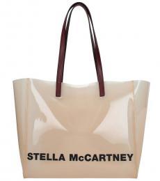 Stella McCartney Pink Shopping Logo Large Tote