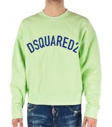 Dsquared2 Light Green Round Necked Sweatshirt