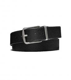 Coach Black Reversible Leather Belt