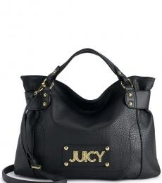 Juicy Couture Black Wild Card Large Satchel